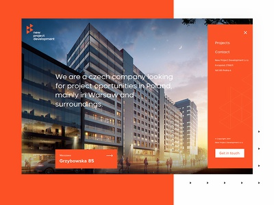 New Project Development - Landing Page homepage house architecture design clean ui desktop web