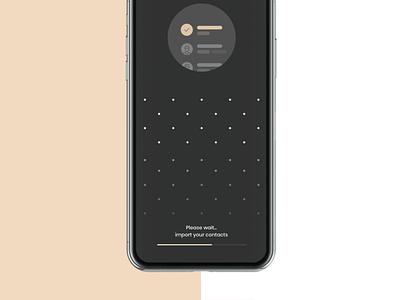 MemByMe app contact import list social comunication clear mobile prototyping ui app