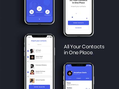 MemByMe app (blue) social clear blue comunity comunication design ios app mobile