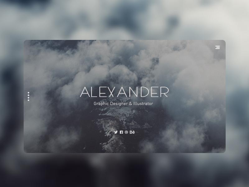 Alexander - Landing Page website design modern concept clean portfolio ui design