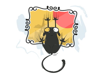 Le Chat Noir Deux affinity design illustration