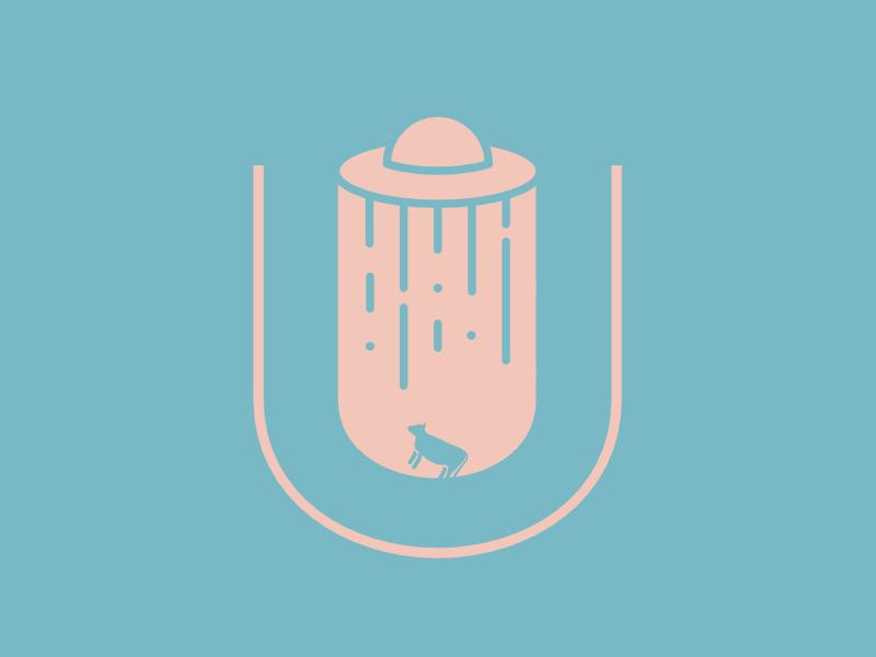 U-FO Typehue  ovni ufo illustration u typehue