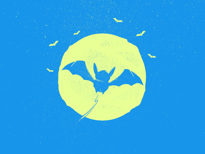 W Bat Typehue ilustration tipehue w