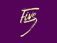 Five in script