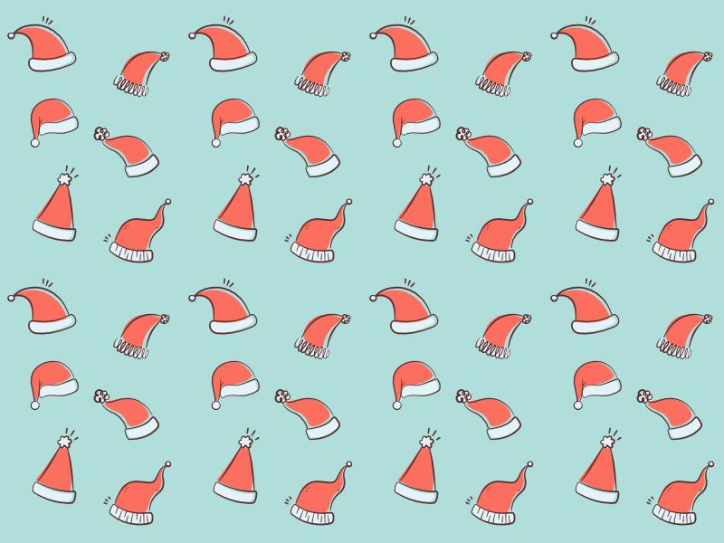 Santa hat pattern illustration pattern santa