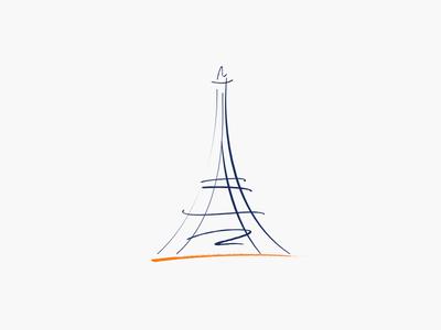 Paris by Iván  via dribbble