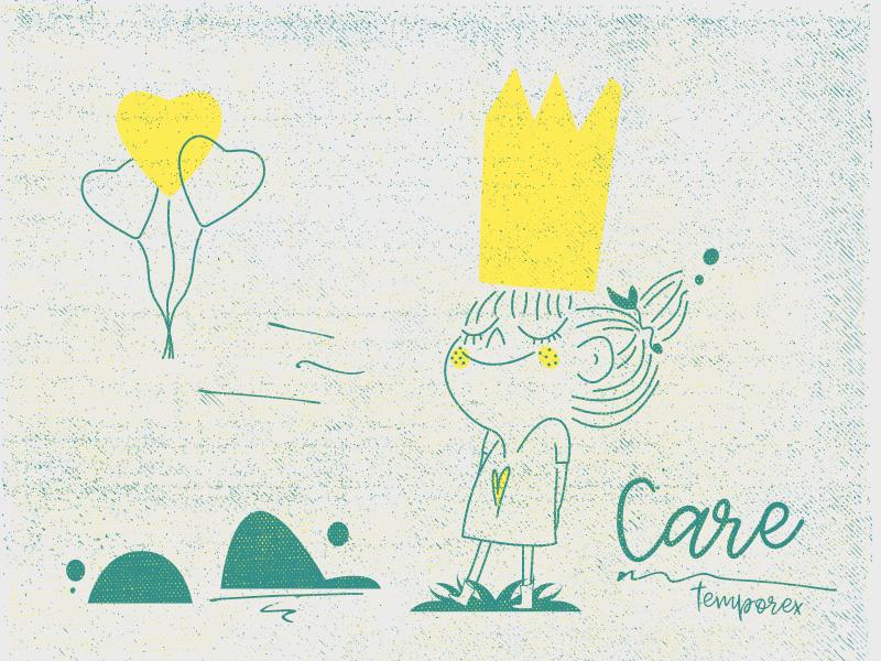 Care - Temporex care character girl illustration