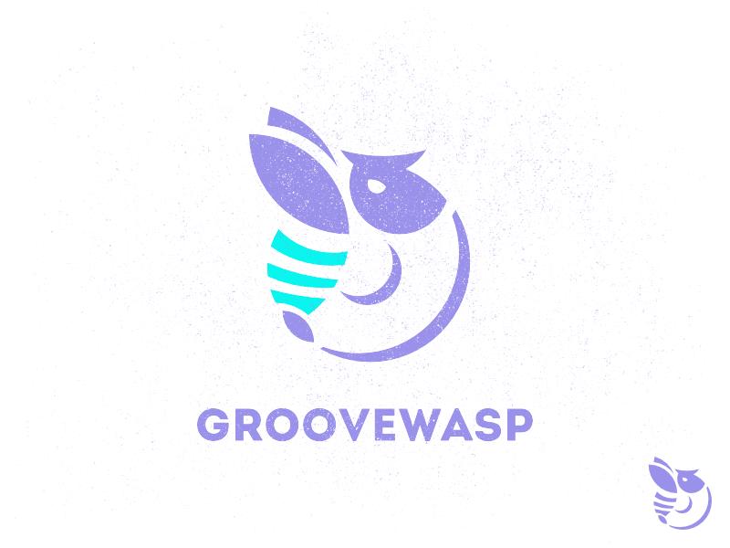 groovewasp typehue logo groovewasp wasp groove
