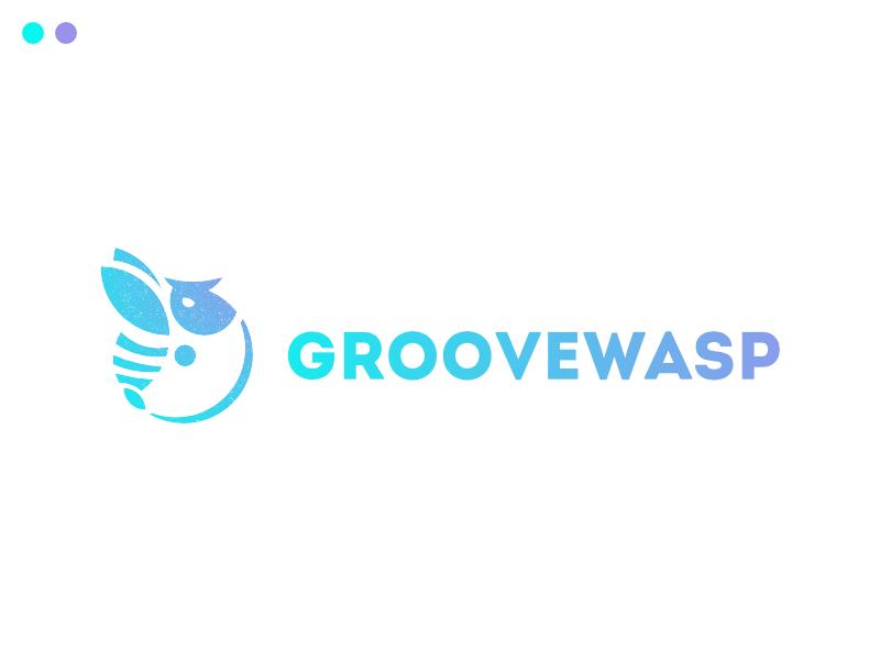 groovewasp v2 typehue logo groovewasp wasp groove