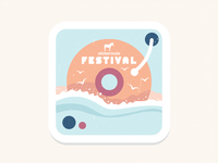 Sticker Mule Italian Music Festival Playoff