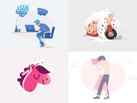 2018 sticker illustration 2018