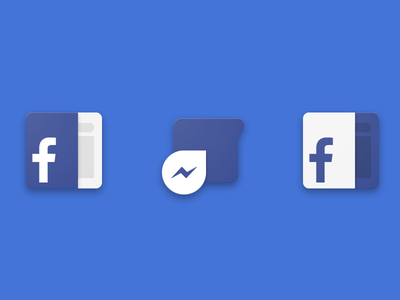 Facebook / Messenger material icons playstore google android app messenger pack icon design material facebook
