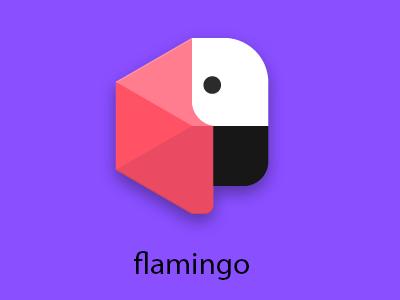 Flamingo icon redesign google material redesign icon flamingo