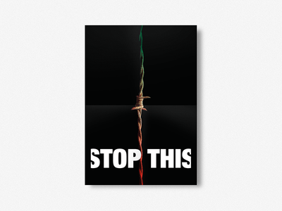 STOP THIS noracis migrants refugee poster graphic manifest