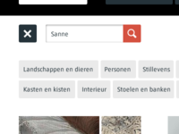 Search interface Rijksmuseum