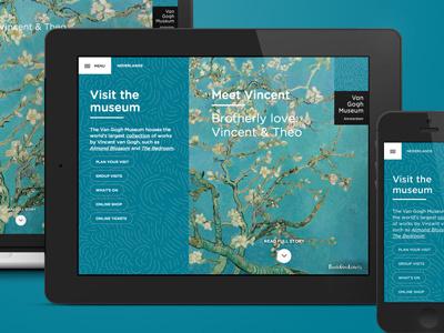 Van Gogh Museum website van gogh van gogh museum responsive flat storytelling website ui museum webdesign amsterdam fabrique