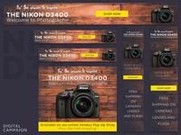 Nikon D3400 DSLR | Holiday Digital Ad Campaign