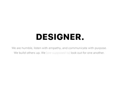 PSA: Designer.