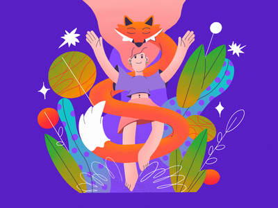 Guardian guardian fox girl procreate nature illustration nature character design illustration