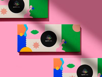 Spark Room packaging makeup skincare beauty logo design branding