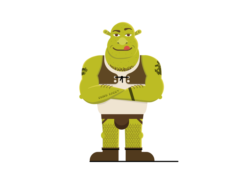 Onion Daddy daddy illustration shrek isolation creation