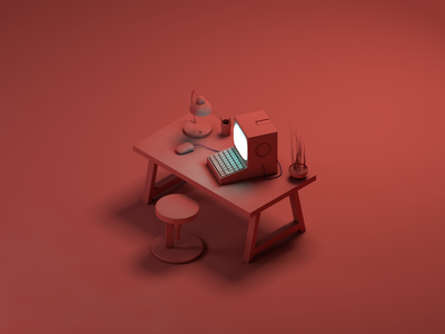 workstation pc workstation desktop design render 3d art cinema 4d cinema4d 3d