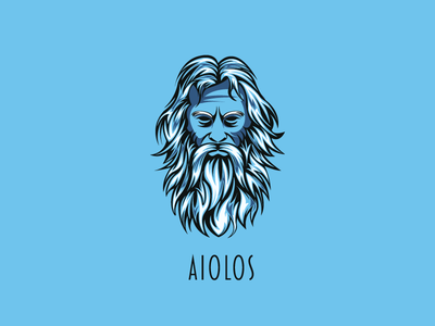 AIOLOS drawing wacom draw logo design logo logodesign illustration design wind aiolos aiolos vector adobe illustrator illustrator