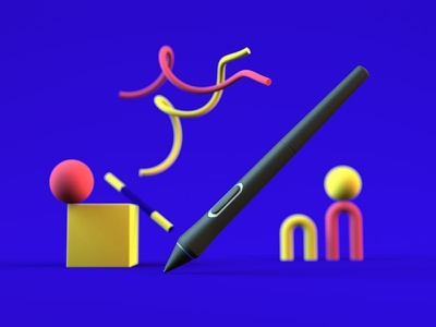 Digital pen digitalart pen wacom wacom intuos design illustrator cinema 4d cinema4d 3d art 3d