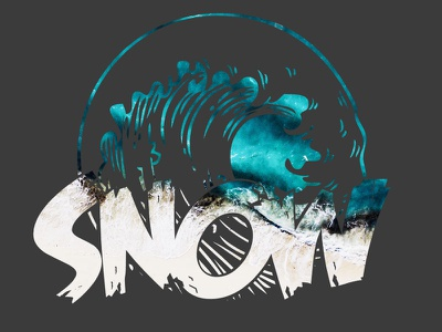 Snow - T-shirt new desing. waves snow new graphic design design vector graphic