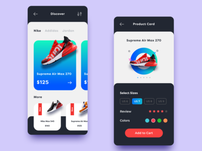 Sneakers shop UI APP