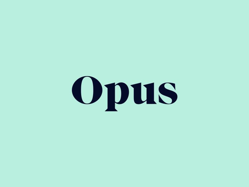 Opus Branding color opus focus lab typography type high contrast branding logo