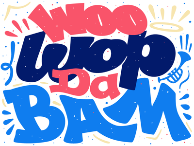 All of the sudden… woo wop da bam chance the rapper illustration lettering clouds nostalgic script hand lettering type typography