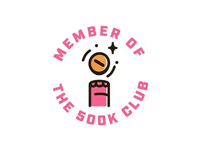 500k Club 🐘 spin hoof color focus lab identity logo branding pink coin elephant tusks badge