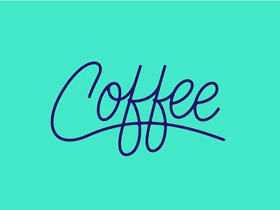 ☕  ☠️ logo branding monoline wip illustration illo script lettering coffee