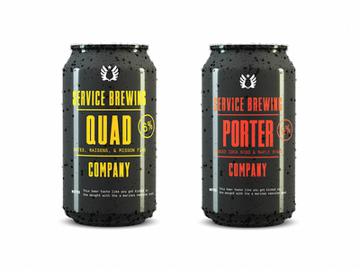 Brewers Release 🍻 jam session typography brew service military black condensed quad porter can design can beer