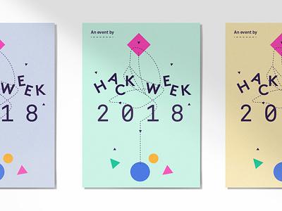 Posters 2018 dash focuslab brand icons shapes hack week language identity logo poster branding