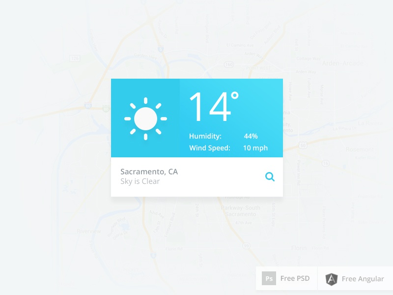 Fully functional weather app by Husam Alrubaye on Dribbble