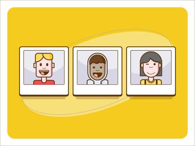 Avatar Illustrations web app colors avatar illustrator webapp character illustration