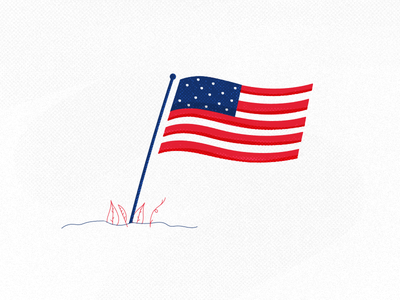 USA Independence Day patriot flags lines textures illustration 4thjuly flag usa