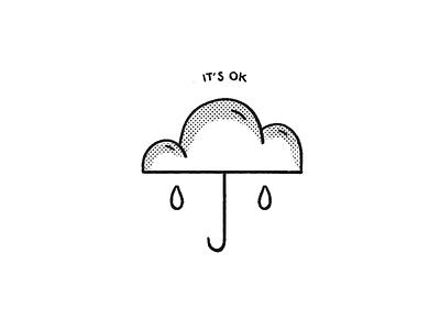 It's OK icon type feelings emotions umbrella rain weather cloud ok