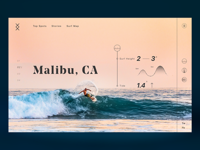 Surf Location WebPage typography ocean sea water waves graphicdesign design ui 100 dailyui 004 product dailyui ui  ux webdesign web surfing surf ui