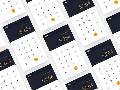Dieter Rams Digital Calculator App calculator app app animation ui 100 product calculator ux designer swiss german braun dieter rams dailyui 004 dailyui ui ux ux ui