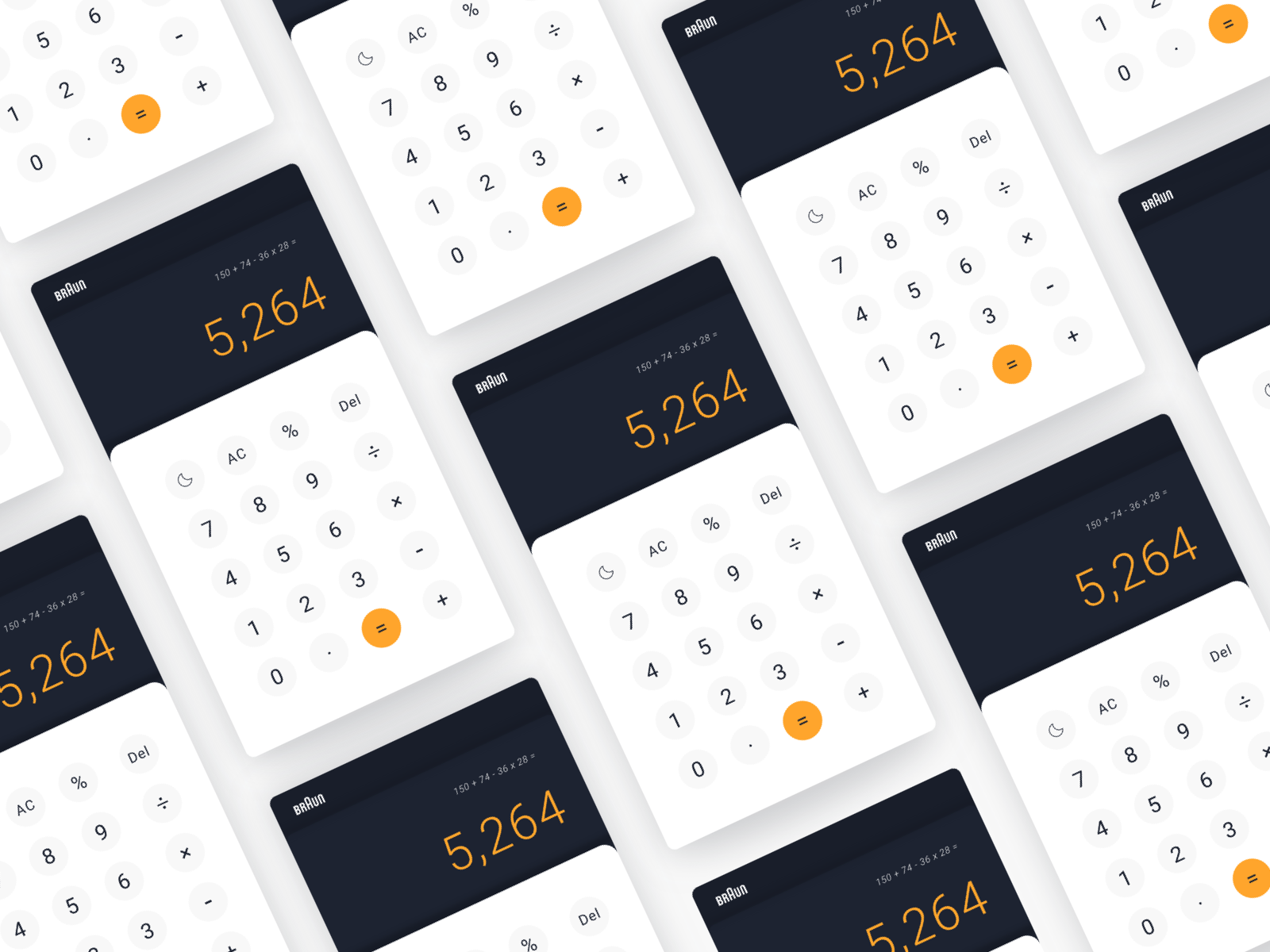 004 calculator braun dribbble multi