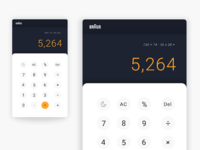 004 calculator braun dribbble