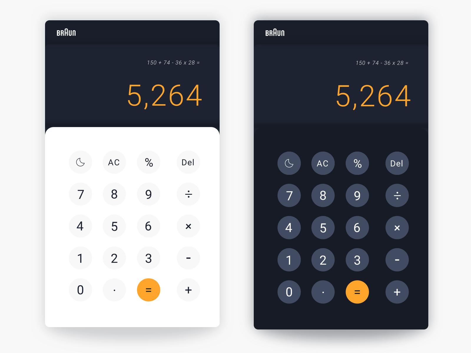 004 calculator braun dribbble day night