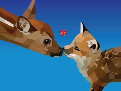 Foxy Kisses illustration