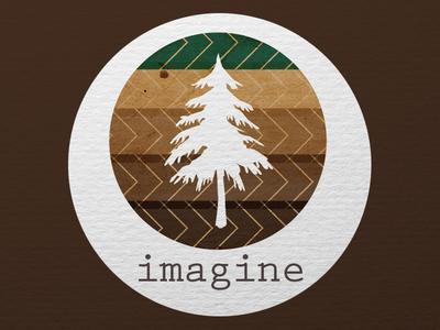 Imagine imagine tree nature logo design illustrator