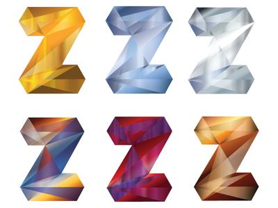 Z Design 2 mirror glass diamond geometric z illustrator design illustration logo