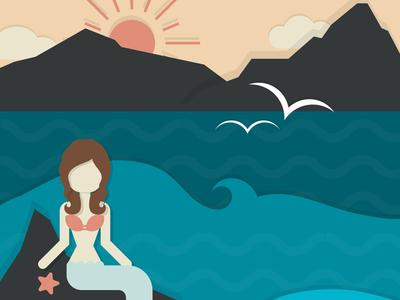 Mermaid Wishes illustration vector
