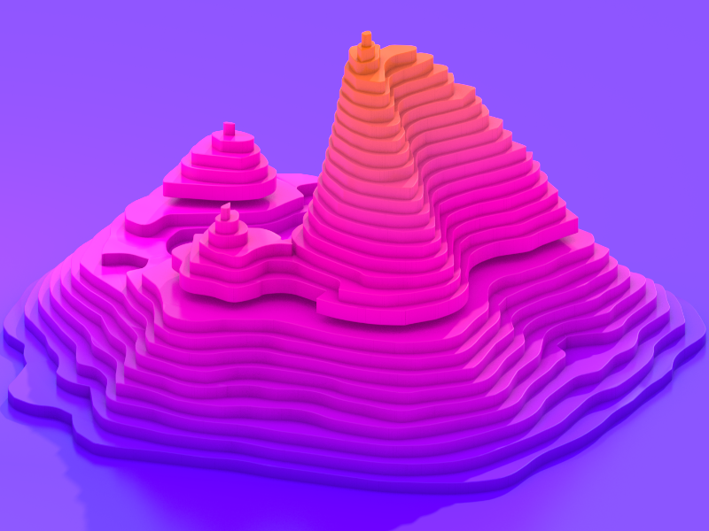 Topographic Map by ♡ ƒℓσωтυтѕ ♡ on Dribbble